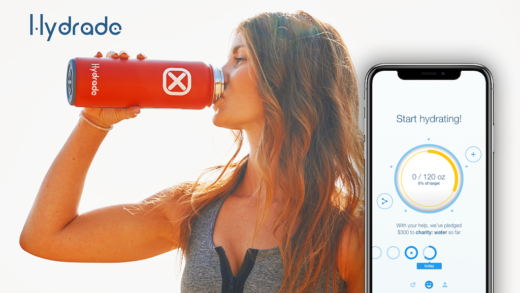 Hydrade   Solar-Powered Double Wall Smart Bottle! project video thumbnail