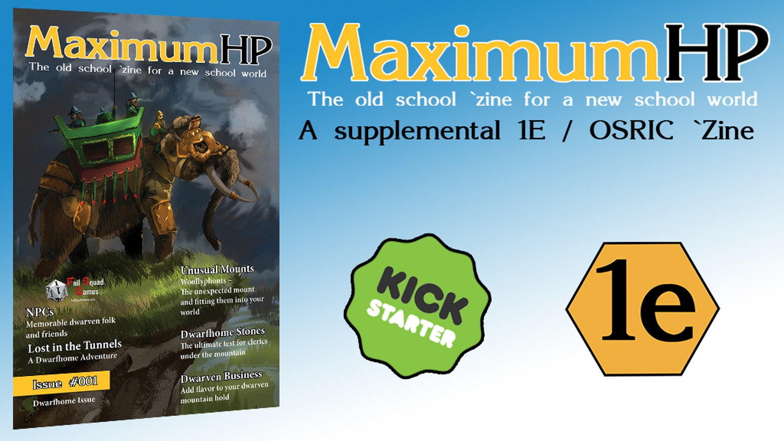 4e93a23ac87e Maximum HP - RPG Zine Issue 001 by Lloyd Metcalf — Kickstarter
