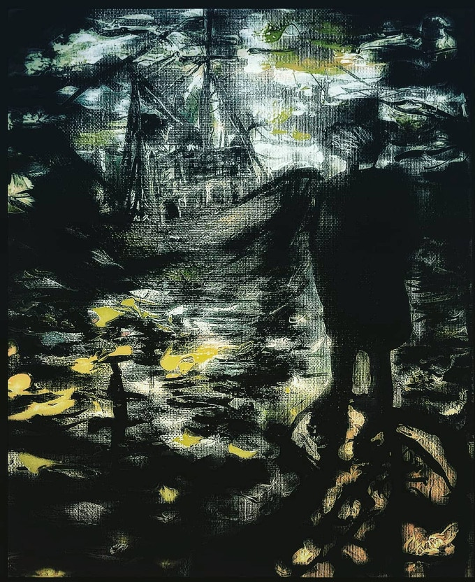 Canvas Painting Postcard