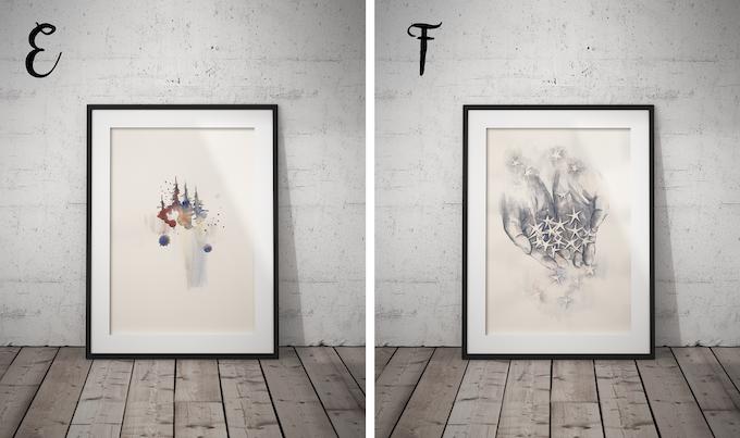 Unika skitser af udvalgte illustrationer til bogen. Skitserne signeres af illustrator og kunstner Marianne Bukh Svenningsen.