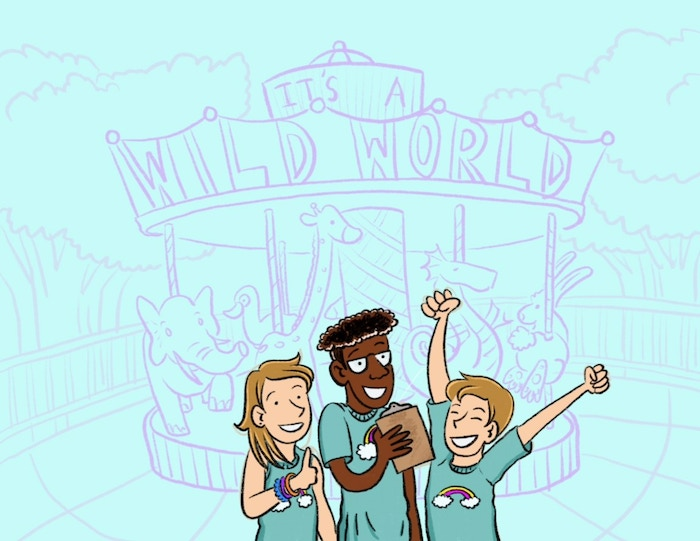 cover in progress from It's A Wild Word, illustrated by KD Diamond