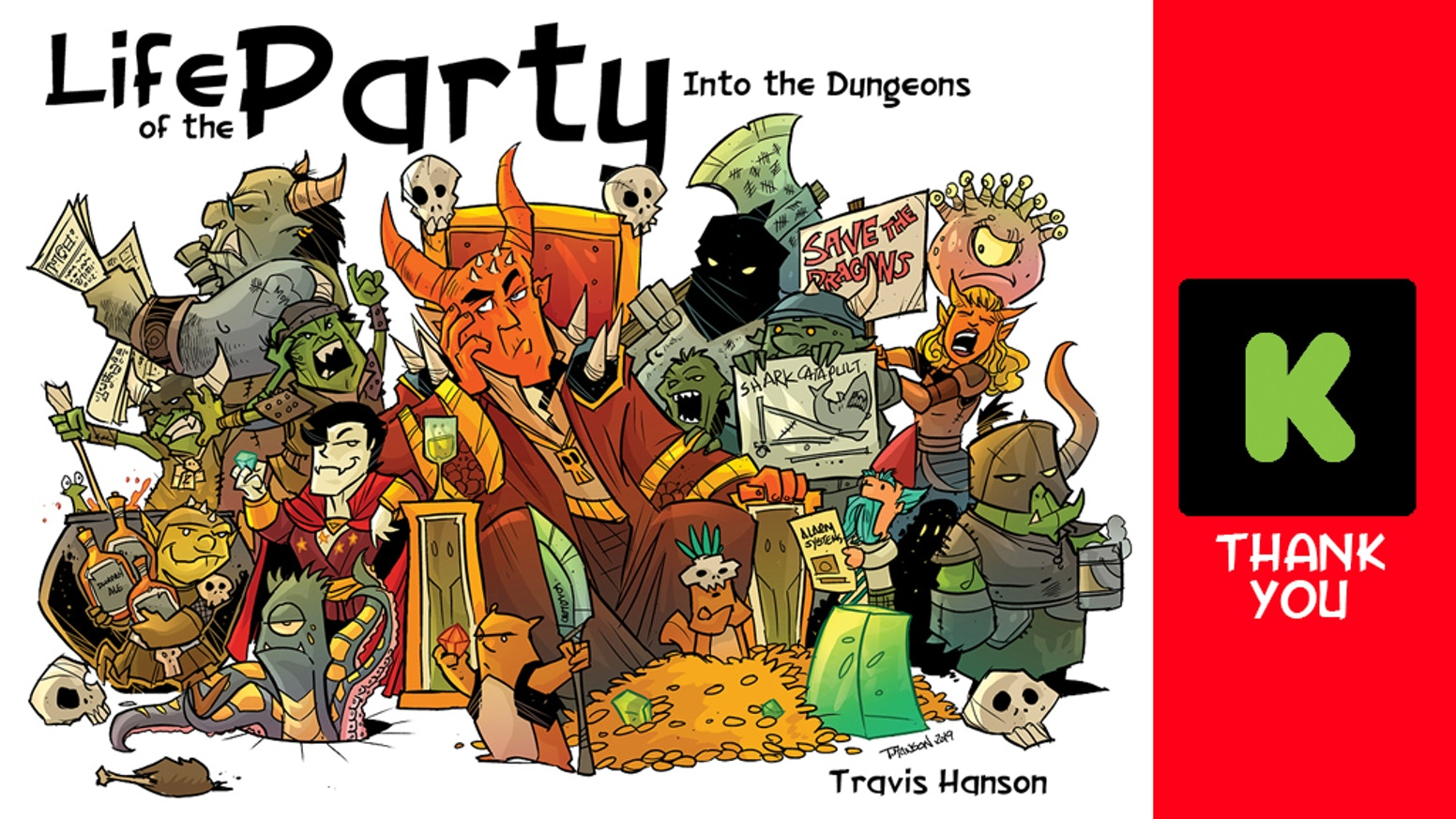 Book 3 of Life of the Party. This time it's Into the Dungeons. This is the 3rd book in the realities of an RPG Comic series.