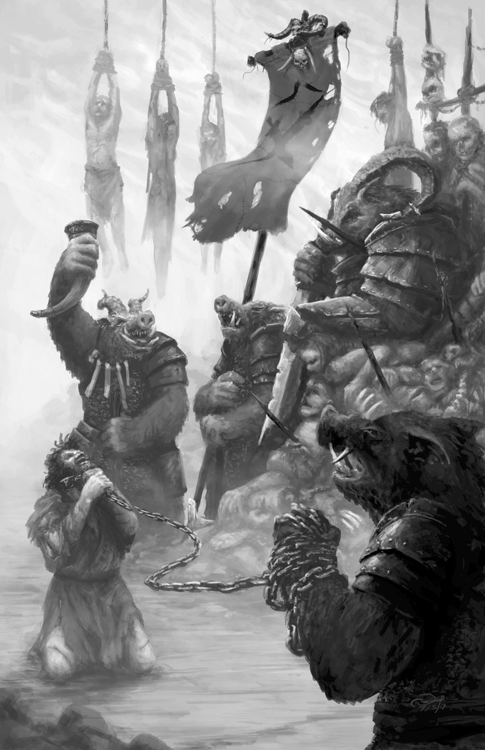 Beastmen revel in their latest conquest.