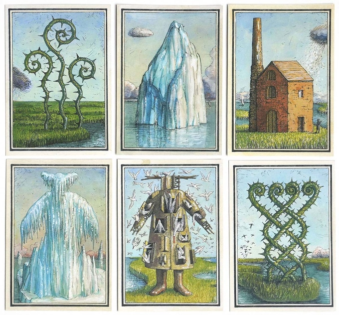Cards from the Fine Art edition have square corners and are unnumbered