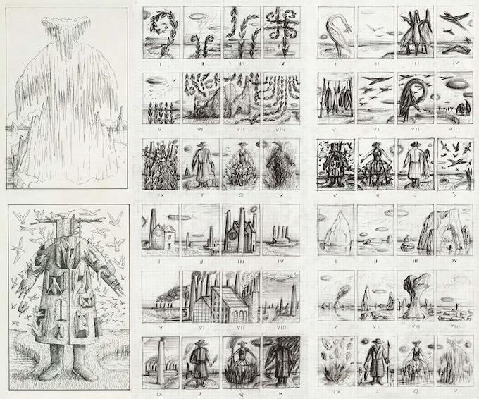 Original design sketches