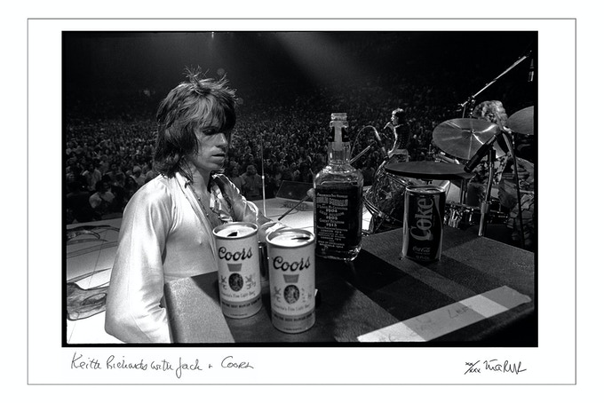 """Keith Richards with Jack and Coors 1972"" (16x20 choice) Limit 4"