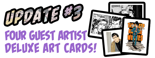 A brand new set of four deluxe full-colour Guest Art cards