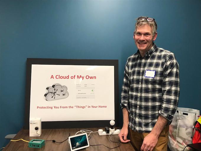 Demo Night - Mass Innovations Night (Burlington MA) . A Basic Demo setup - A Cloud of My Own , Google Home Hub , Smart Home Switches and Bulbs