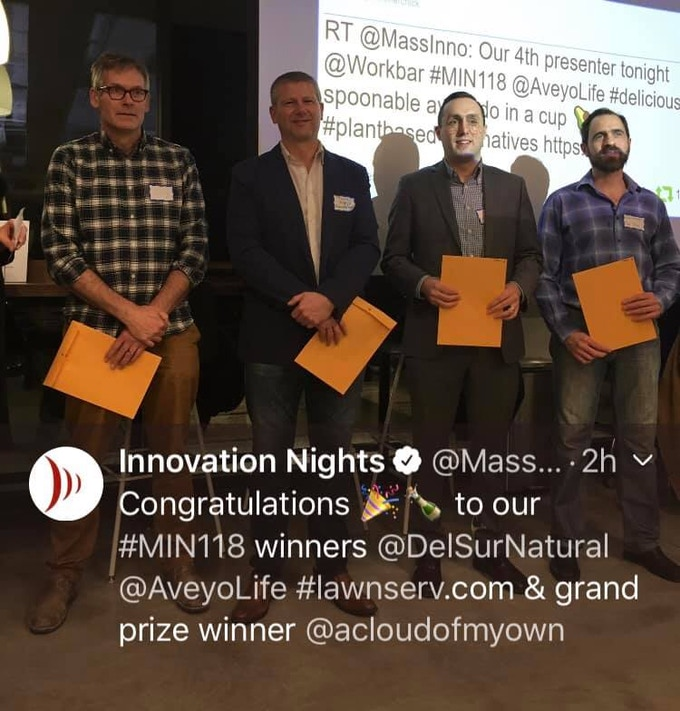 Grand Prize Winner - Best New Product Mass Innovation Nights - January 2019