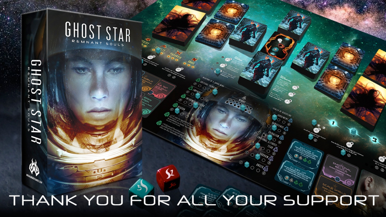 Ghost Star is a space adventure game with elements of exploration, character development, strategy and combat against alien entities.