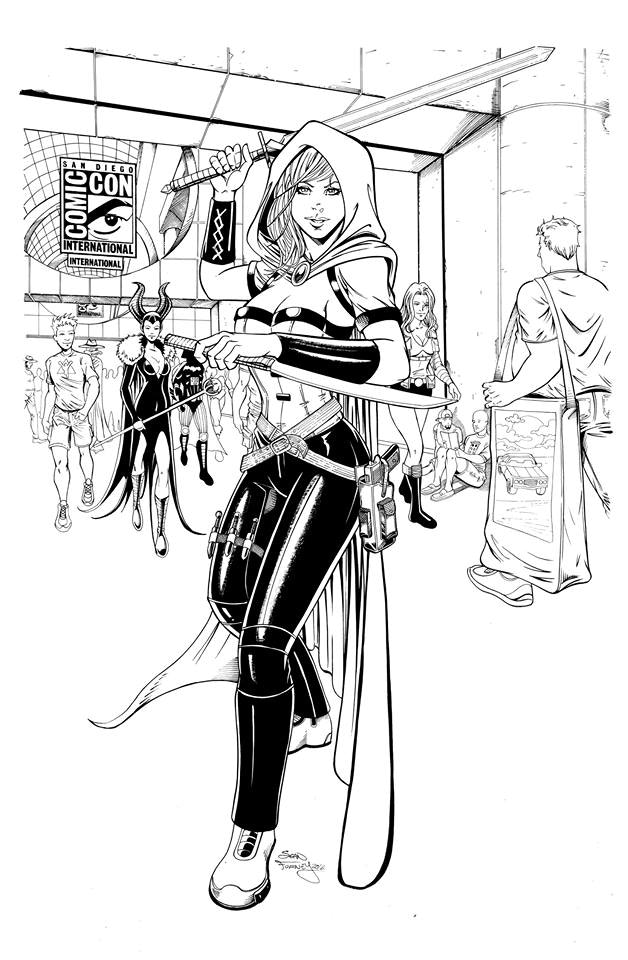 Cover Art: Scarlet Huntress Trade - $200