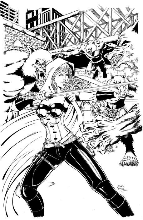 Cover Art: Scarlet Huntress #2 Reprint 2016 - $200
