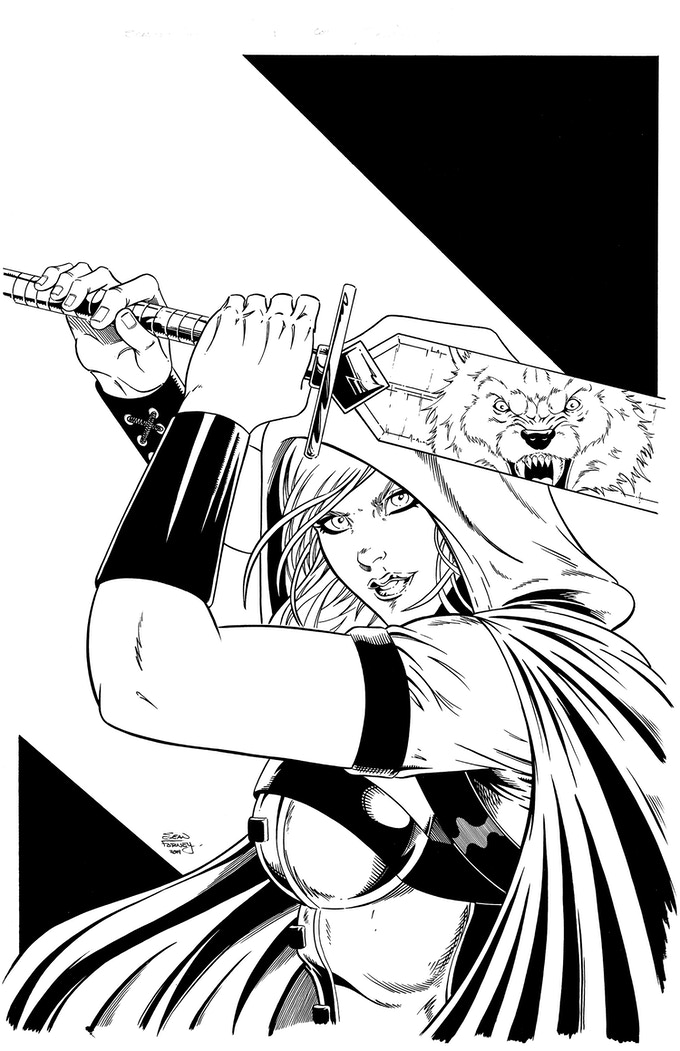 Cover Art: Scarlet Huntress Adventures - $400