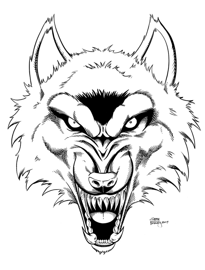 Sticker Art: Werewolf Head - $100