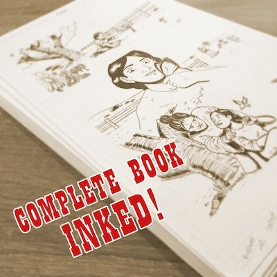 All the pages are fully inked and ready to be colored!
