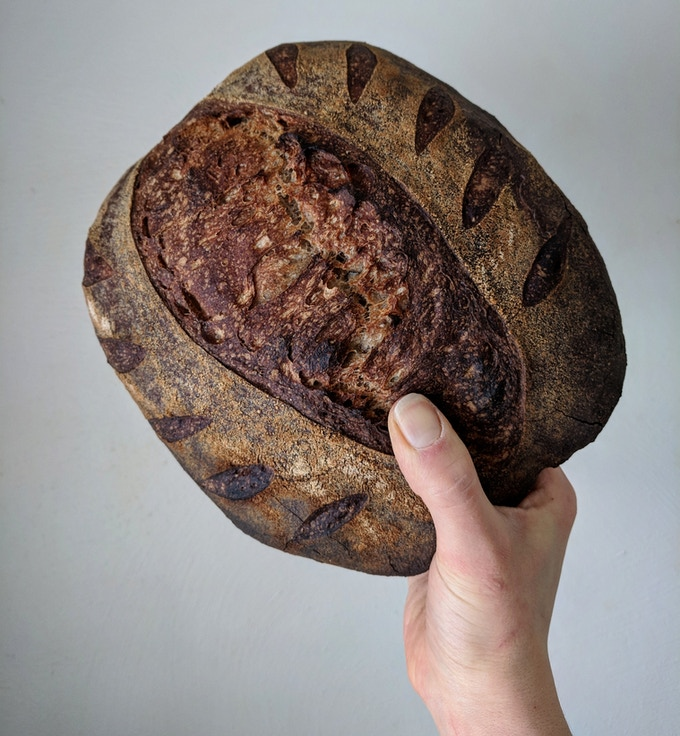 """One of our most popular signature sourdough loaves - The """"Buck"""" Loaf"""