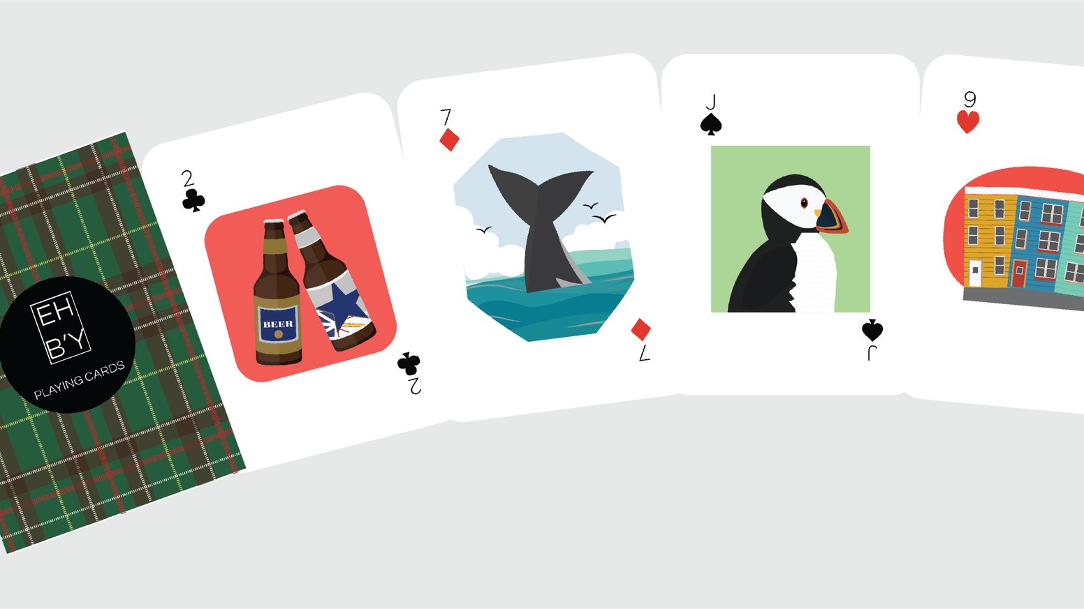 EH B'Y Playing Cards: designed to be as unique as the province they come from.