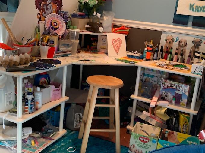 Kaylees' Crafting Area