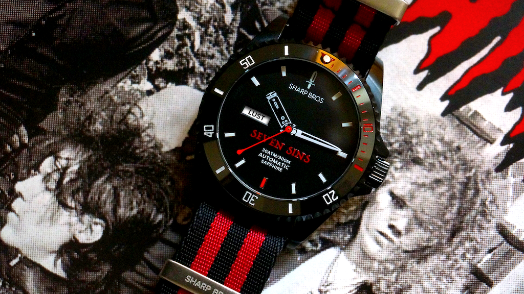 Seven Sins Automatic Dive Watch project video thumbnail