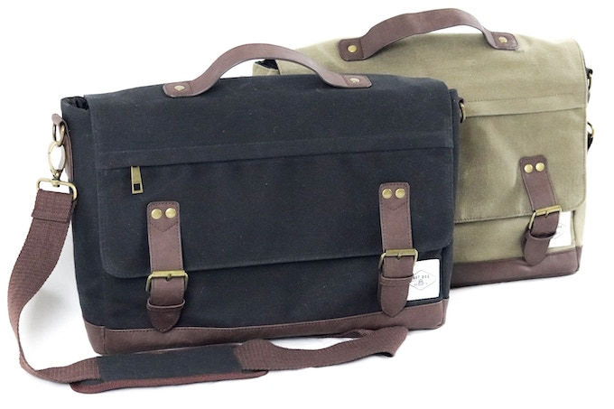 nXtBag2 Waxed canvas satchel bags with our unique removable insulated cooler bag, Two great colours.