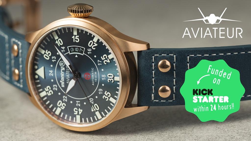 Aviateur - The True Pilot Spirit Watch project video thumbnail