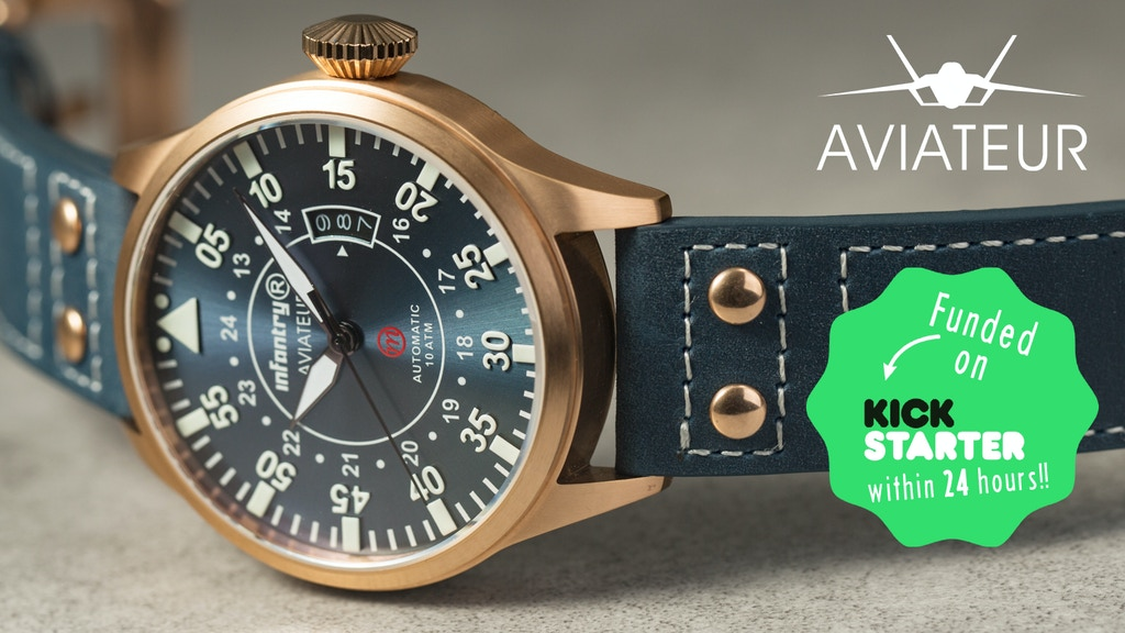 Aviateur - The True Pilot Spirit Watch project video thumbnail
