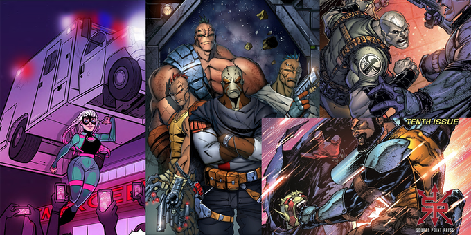 Art from the Salvagers and Hope comics from Source Point Press. This is the art team that will be doing all of the art for the Infinite Power: 2nd Edition RPG!