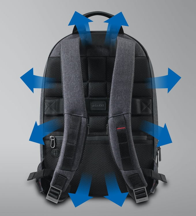 High-quality breathable mesh allows air to flow through the material and escape keeping your back cooler.
