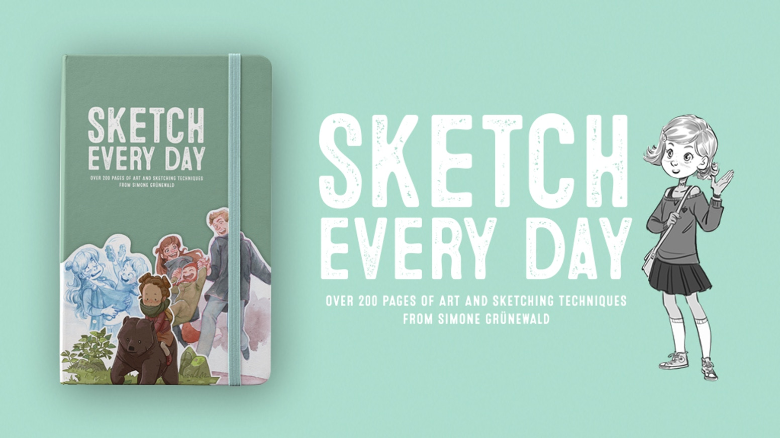 Over 200 pages of art and sketching techniques from Simone Grünewald.