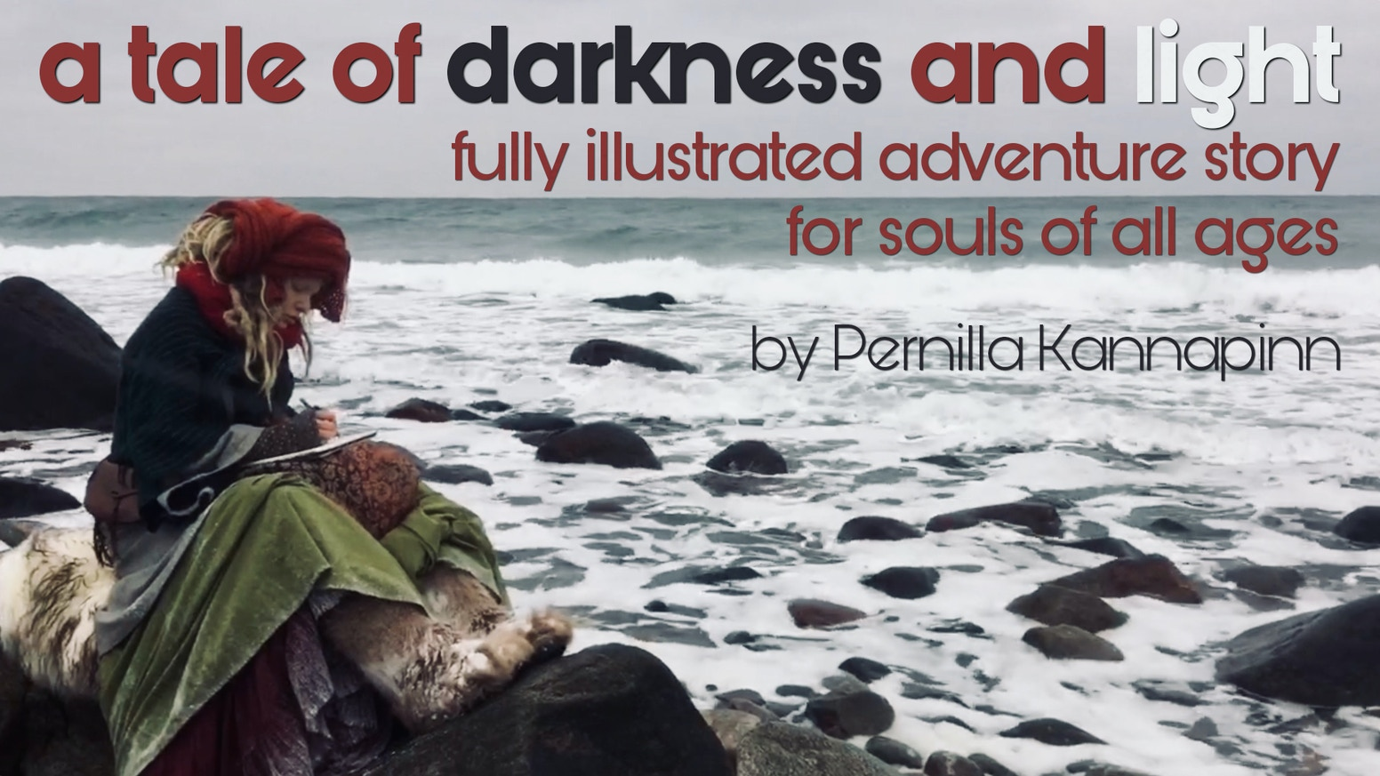 Artist Pernilla Kannapinn turns her intense acrylic paintings and her story of a fantastic journey into a book for souls of all ages.