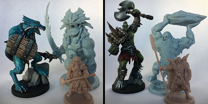 Blood Rage miniatures for scale