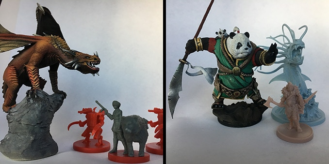 Blood Rage & Scythe miniatures for scale