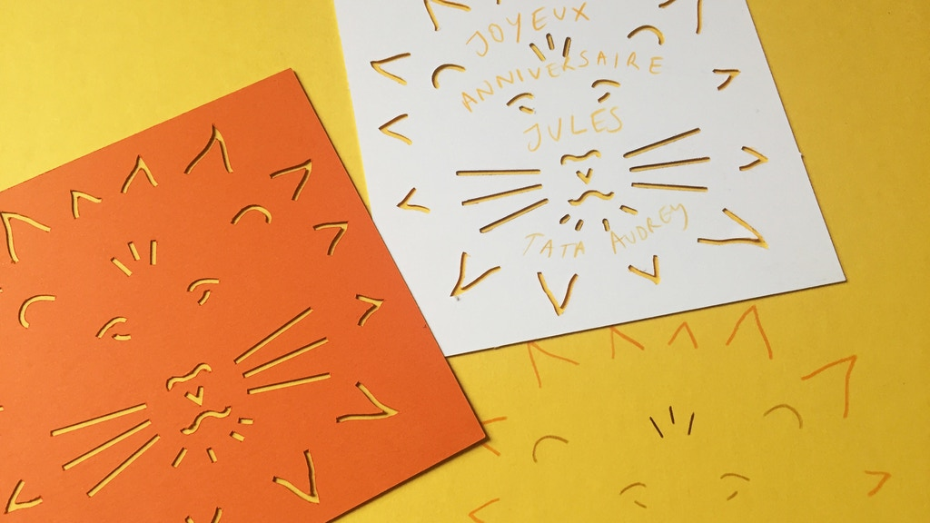quickstarter: lazy stencil-cards for kids project video thumbnail