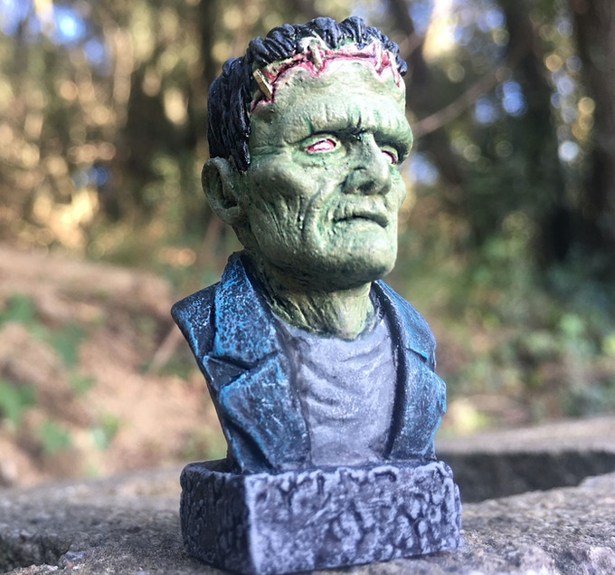 Frankenstein bust hand-painted full color, limited units