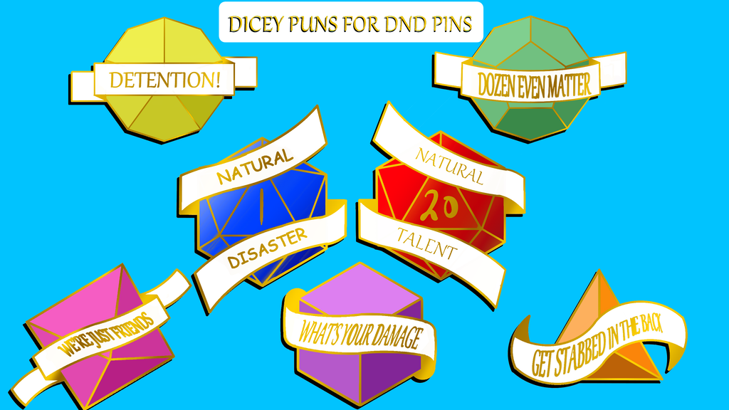 Project image for Dicey Puns for DnD Pins