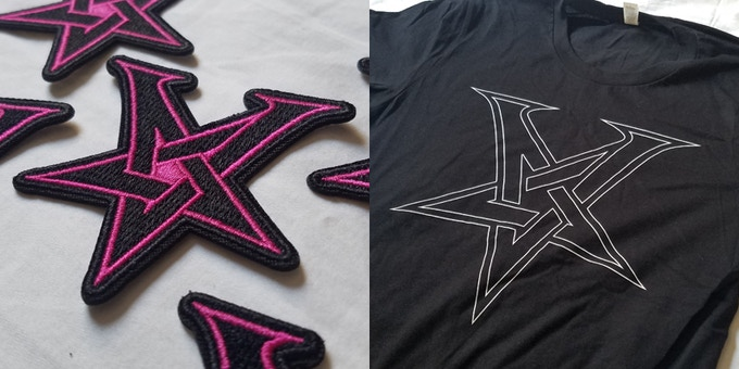 Patch and t-shirt examples