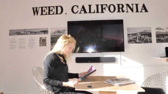 Inside our current space in Weed, California