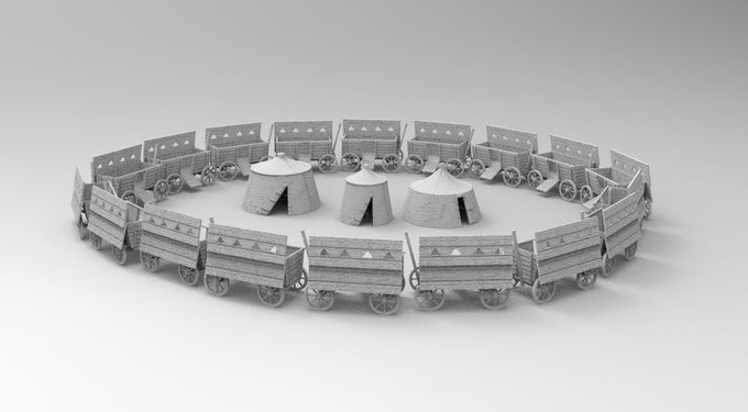 Medieval, 3d printable terrain for tabletop and modeling by 3D-Print