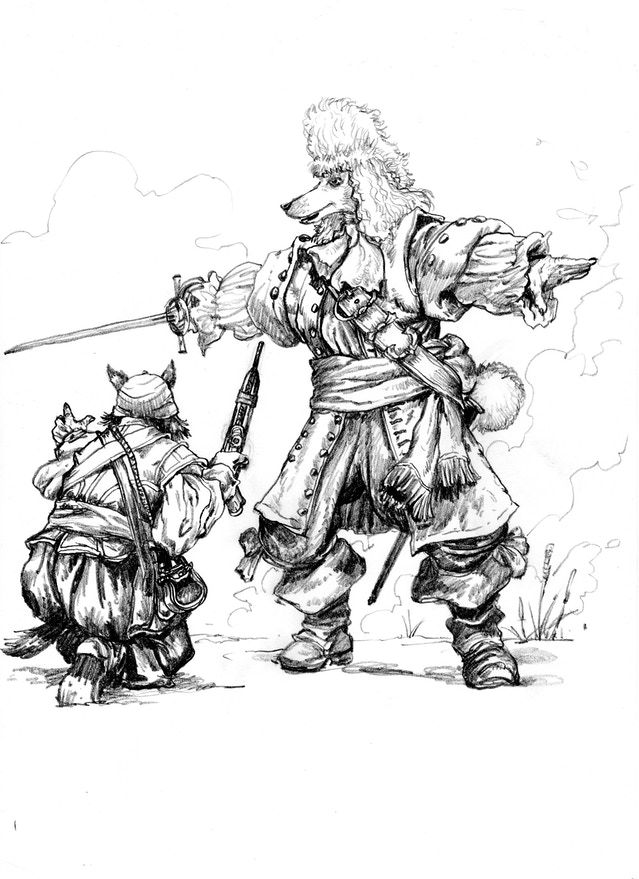 Pirates of Pugmire concept art by Rich Thomas