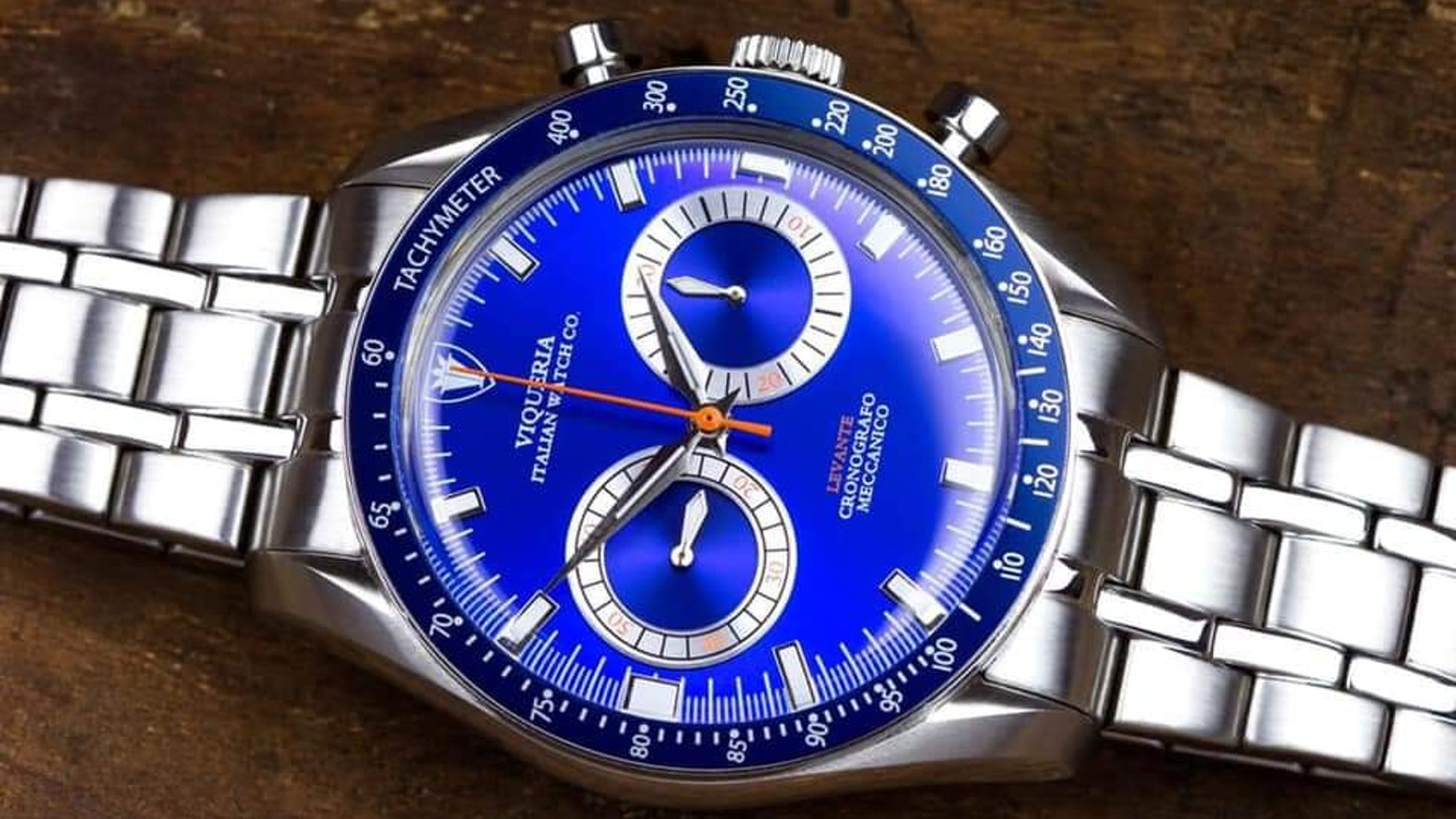A unique racing chronograph assembled in Italy with a Swiss designed mechanical heart.  Join the hand-wound revolution! Join Levante!www.viqueriawatches.com