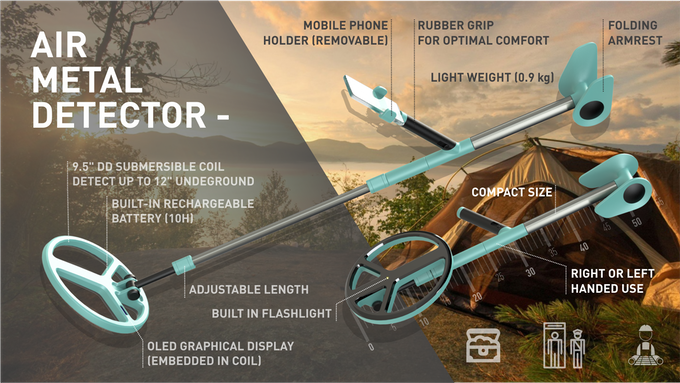 Air Metal Detector: The Smart Bluetooth Metal Detector! by AIR MD