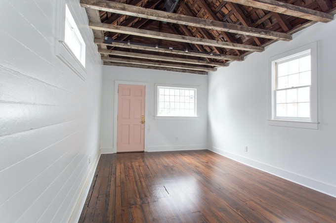 Interior of our space where we'll need to build the coffee bar
