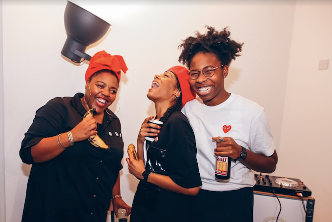 Tahirah, Tamika and Lemara at our Issue 001 Launch. Photography by Keturah Cummings.