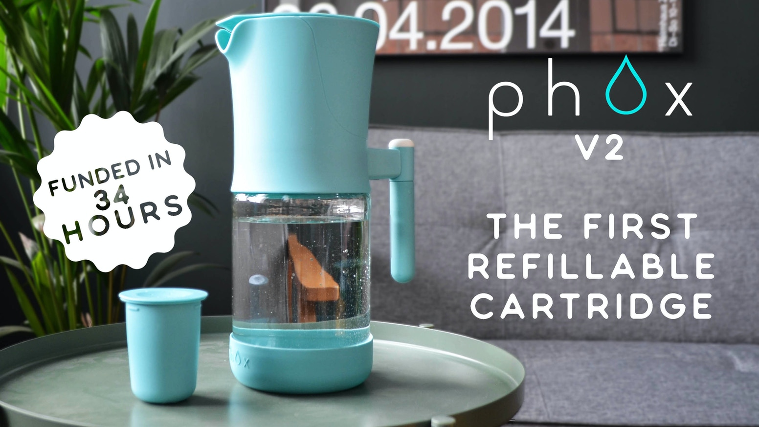 The most environmentally friendly water filter, built to wage war on single use plastic.