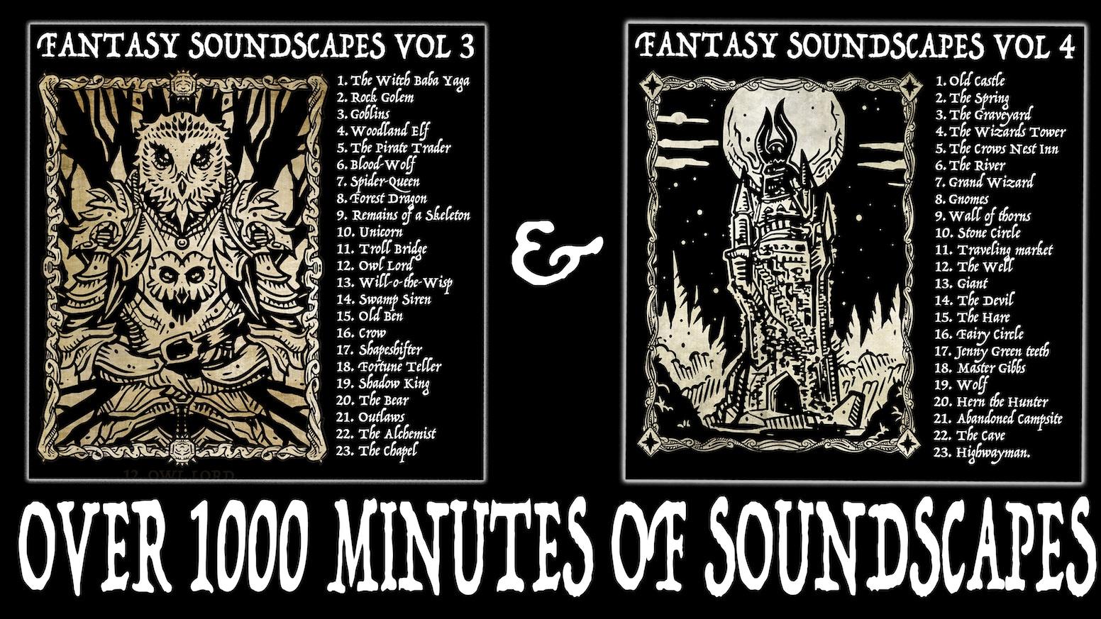Fantasy Soundscapes Vol 3 & 4 PLUS Free Vampire Vol by