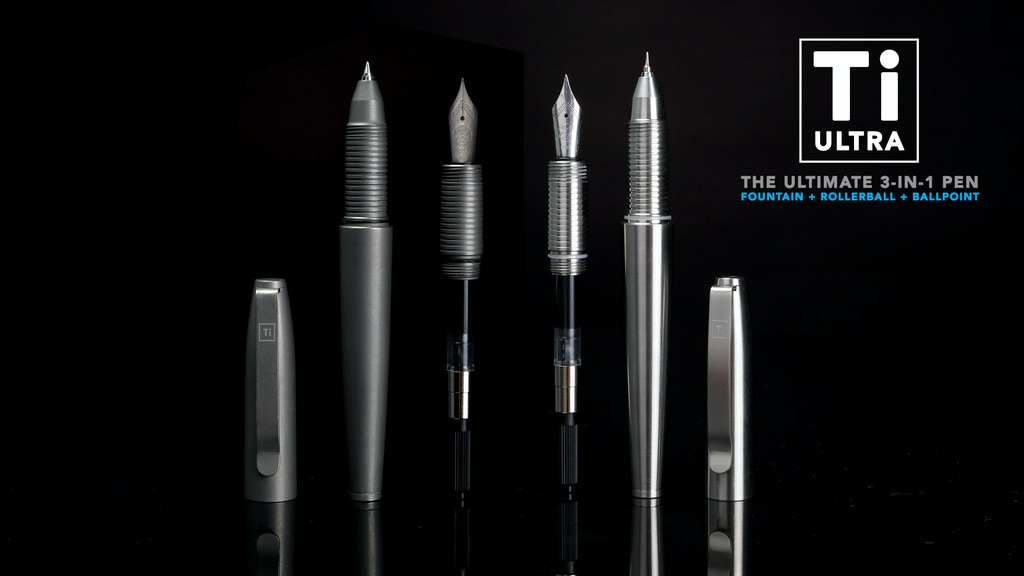 Ti Ultra : The Ultimate 3-in-1 Titanium Pen project video thumbnail