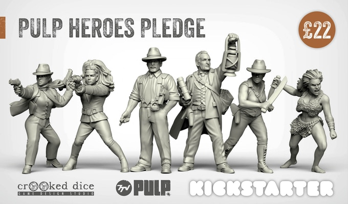 PULP HERO PLEDGE (left to right): Crusading Crimefighter, Renegade Royal, Cynical Gumshoe, Occult Investigator, Intrepid Adventurer and Jungle Paragon.
