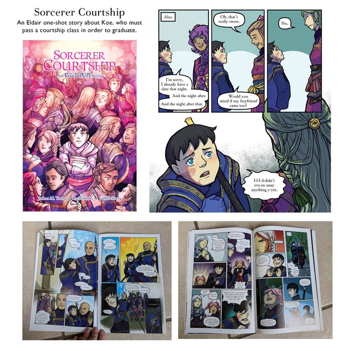 Sorcerer Courtship is a oneshot comic featuring Koe in his youth. This comic is a full color with 24 pages.