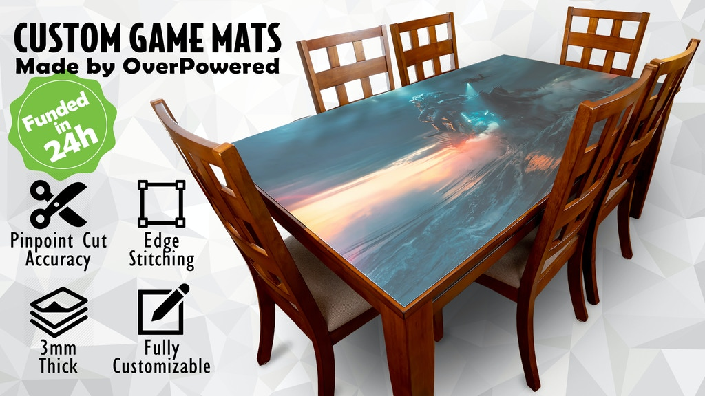 Custom Game Mats- Any Shape, Size, and Image project video thumbnail
