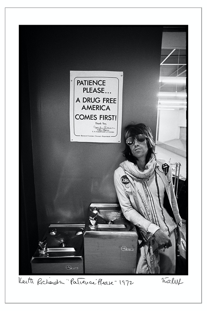 "Keith Richards ""Patience Please 1972"" (8x10 choice)"